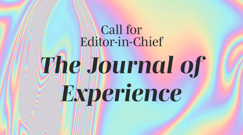 Call for Editor-in-Chief
